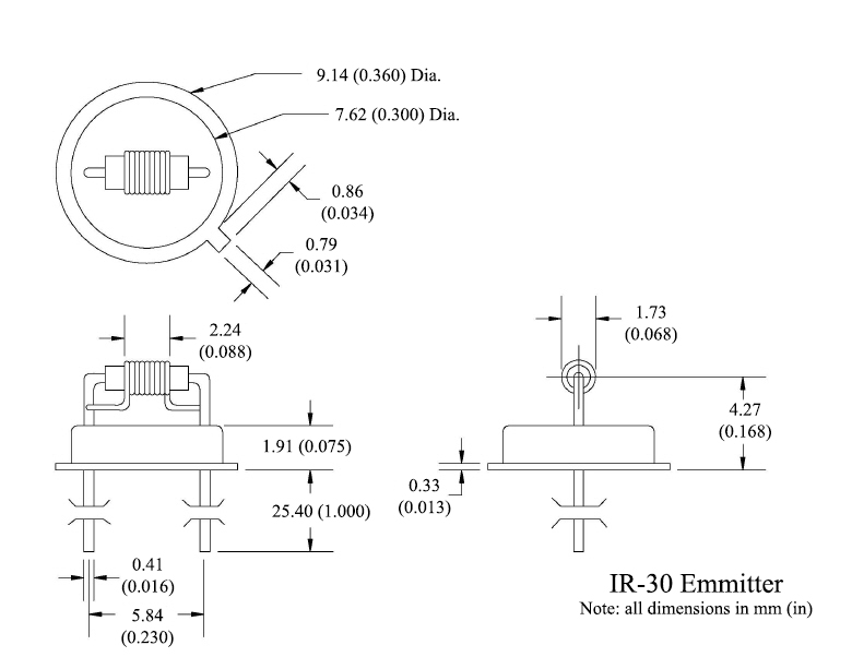 IR-30 Emitter Diagram